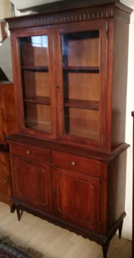 antiquariato mobili antichi vetrina libreria noce stile